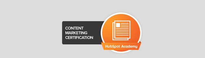 content marketing certification hubspot academy