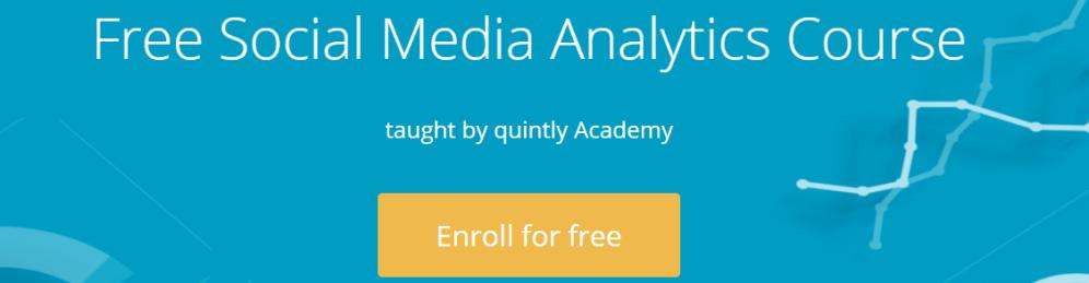 Quintly Social Media Analytics - Digital Marketing course